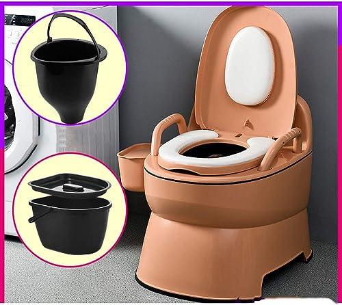 Toilette Portable compacte Potty Loo avec Panier Lavable et Porte-Rouleau de Papier Toilette pour Piscine Party Camping Caravan Picnic & Festivals
