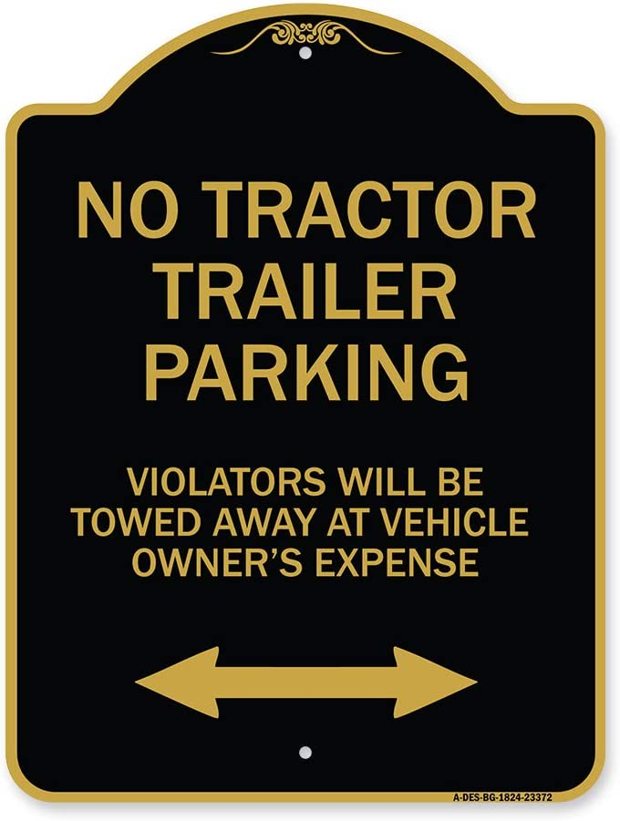 SignMission Designer 35% OFF Sign Ranking TOP4 - No Parking Tractor Restriction
