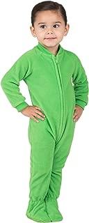 Footed Pajamas - Emerald Green Infant Fleece Onesie