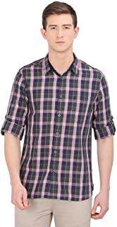 STOP by Shoppers Mens Slim Collar Check Casual Shirt