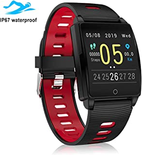 GUANLV Fitness Tracker Activity Tracker Sports Smart Bracelet with Heart Rate Monitor Waterproof Bluetooth Touch Screen Pedometer Sleep Monitor Calorie Counter Sports Smartwatch for Women Men Kid