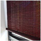ACXZ Estores enrollables de bambú, persianas de bambú para Interiores y Exteriores, Cortina de Madera con Filtro de luz para Salon, Cocina, Dormitorio, balcón, Porche (Verde, Rojo ladrillo)