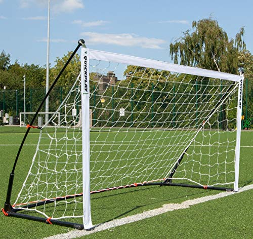 QUICKPLAY Kickster Elite Soccer Goal with Integrated Weighted Base for Indoor & Outdoor Soccer 6.5 x 3.2' [Single Goal]