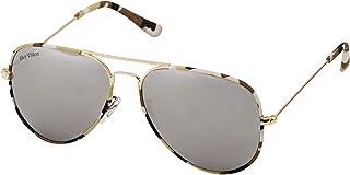 Sky Vision Aviator Sunglasses for Women, Black Lens, 2684