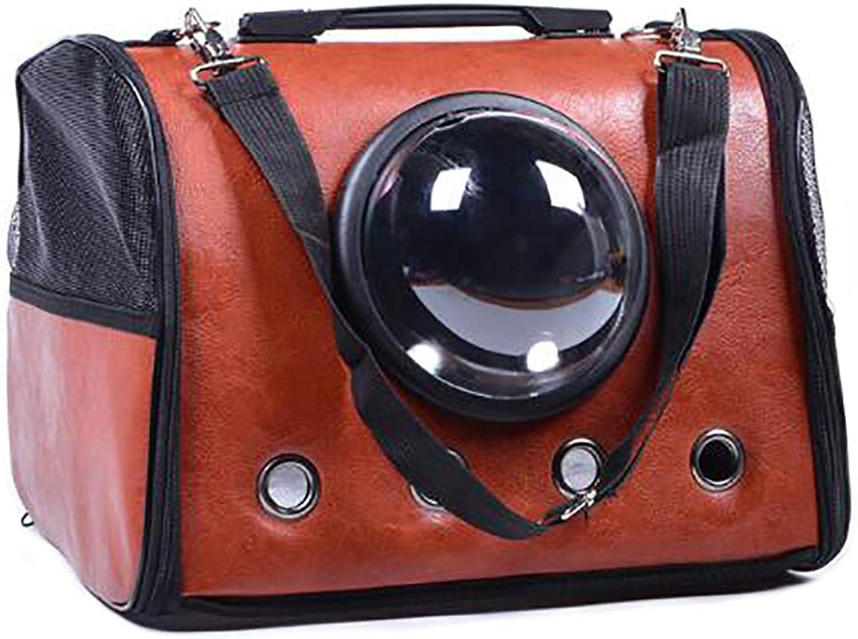 Pet bag Cat cage Dog bag Pet backpack Outing bag Carrying case Travel bag Car bag Transparent breathable Lightweight convenient (color   C)