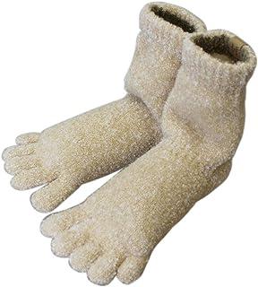 SocksDEPO 靴下 てぶくろ屋さんがつくった「モコモコ5本指ソックス ゆったり派シングル ショートタイプ」裏起毛 日本製