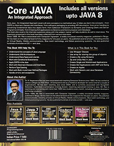 Core Java: An Integrated Approach (Old Edition)