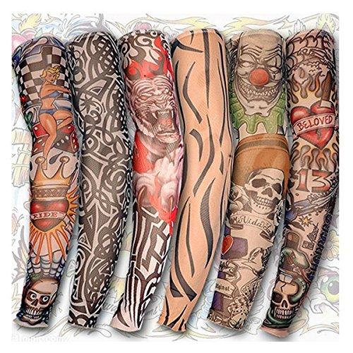 Poseidon Tatuaje brazo pierna mangas sol protección ciclismo ...