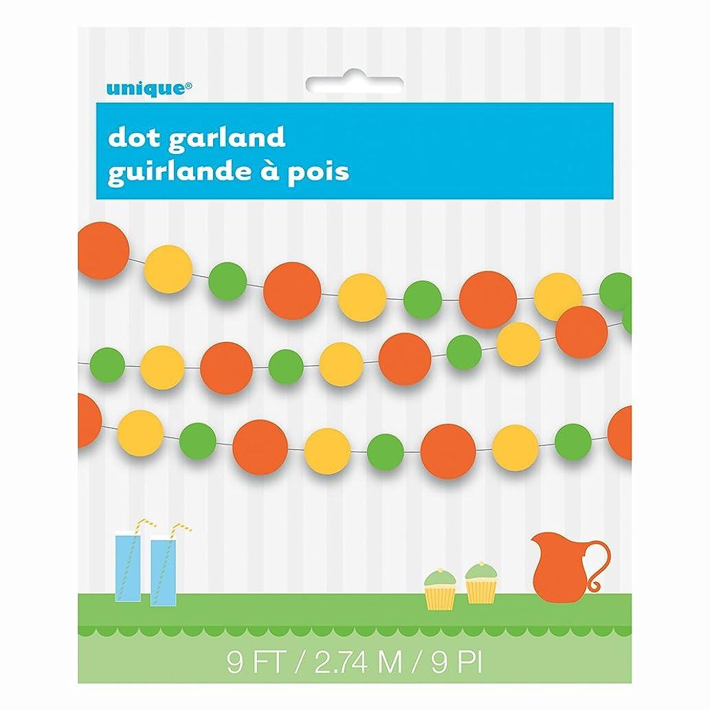 9ft Paper Summer Citrus Circle Garland
