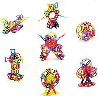 letsgood Magnetic Tiles Building Blocks Set - 113 PCS Preschool STEM Early Educational Construction Toys for Kids Boys Gir...