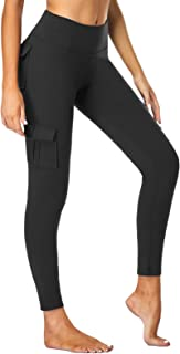 SEVEGO Women's Cargo Yoga Leggings with 4 Pockets Stretchy High Waisted Tummy Control Athletic Workout Pants Gym Tights