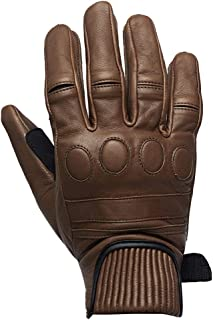 Royal Enfield Moss Green Leather Protective Riding Gloves for Men (RRGGLJ000017)
