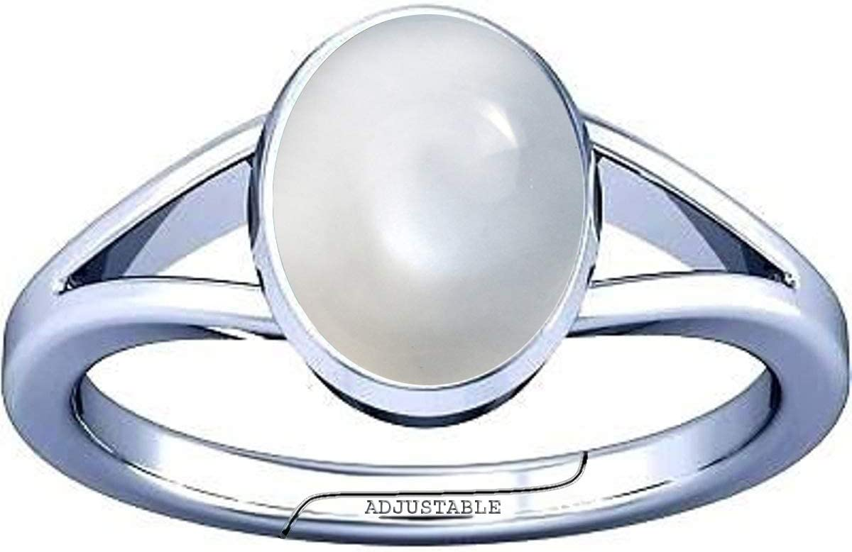 Divya Shakti 4.25-4.50 Quality inspection Carat Silv Chandramani Moonstone Gemstone Colorado Springs Mall