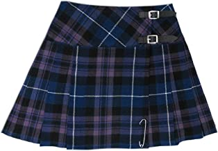 Tartanista Womens 16.5 Inch Scottish Tartan Mini Kilt Skirt