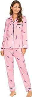 comprar comparacion GOSO Pijama para Mujer - Pijama de Manga Larga con Botones para Mujer - Conjunto de Pijama de Manga Larga Floral para Mujer