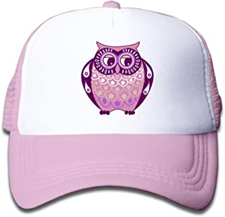 American Tribal Style Owl Boys Girls Mesh Cap Trucker Caps Hat Adjustable Black