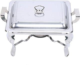 Lot de récipients à chafing Dish en acier inoxydable - 6 l - Récipient de conservation au chaud pour plats - Chauffe-plat ...