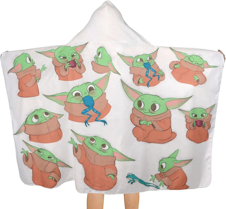 Baby Yoda New color Teenager Bath Towel Kids Max 41% OFF Hooded