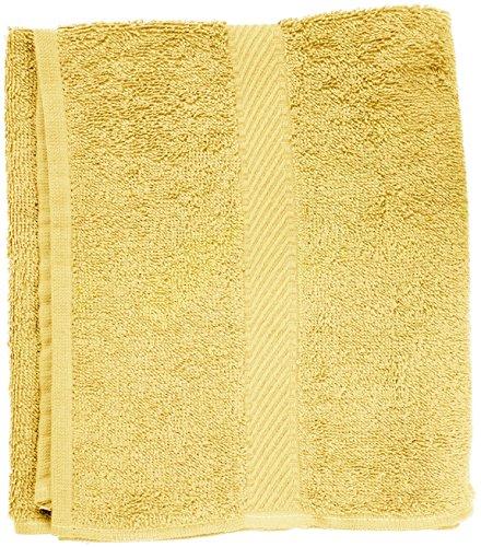 Toalla amarilla de mano, 50 x 90 cm, color amarillo