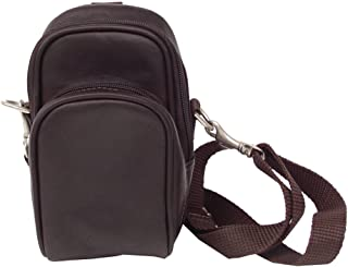 Piel Leather Camera Bag, Chocolate, One Size