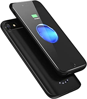 バッテリー内蔵ケース ケース型バッテリー 超軽量 薄型 スリム iPhone6s/iPhone7/iPhone8 急速充電用 バッテリーケース (ブラック)