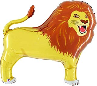 """Award Winning 32"""" LION Anti-Gravity Balloons Hover & Drift in Mid-Air with """"NO STRINGS ATTACHED""""! FUN for all Ages! Includes Weights for Easy Height Control. The """"HIT of your JUNGLE/SAFARI PARTY!"""""""