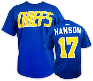 Mad Brothers Hanson Brothers Slap Shot Movie t-Shirt #17 Hanson Charlestown Chiefs Officially Licensed