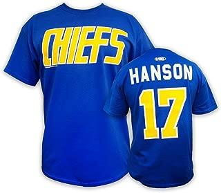 Hanson Brothers Slap Shot Movie t-Shirt #17 Hanson Charlestown Chiefs Officially Licensed