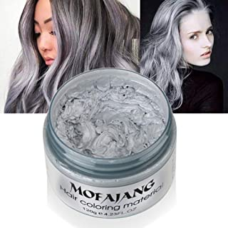 Silvercell Hair Dye Wax,Unisex One-time Hair Color Wax,Natural Dye Molding Paste Style for Party, Cosplay