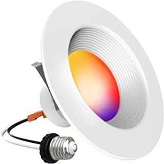 Smart Recessed Lighting - iLintek Bluetooth Downlight 13w 1100lm Color Changing Bulb Tunable White(2700K
