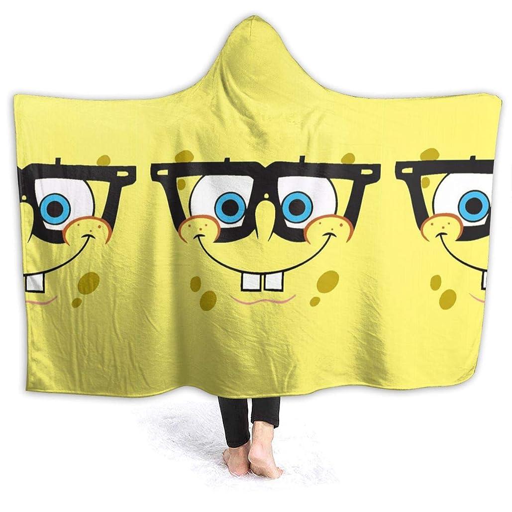うまくやる()却下する照らす毛布 ブランケット スポンジボブ 帽子付き シングル ふんわり 洗える フランネル シーツ ひざ掛け