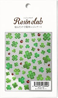 Resin Club Clover (Printed on Both Sides 2 Sheets) Stickers Resin Jewelry Pendant Earrings