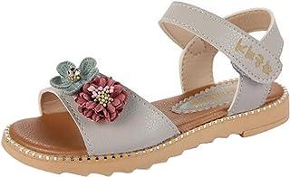 (ピピシダ)PPXID 女の子サンダル 夏用靴 お花飾り 可愛い お嬢様シューズ 軽量 滑り止め 通学 アウトドアシューズ
