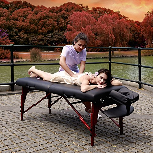"""Master Massage 31"""" Montclair Professional Portable Massage Table Package with MEMORY FOAM Layer -Black"""