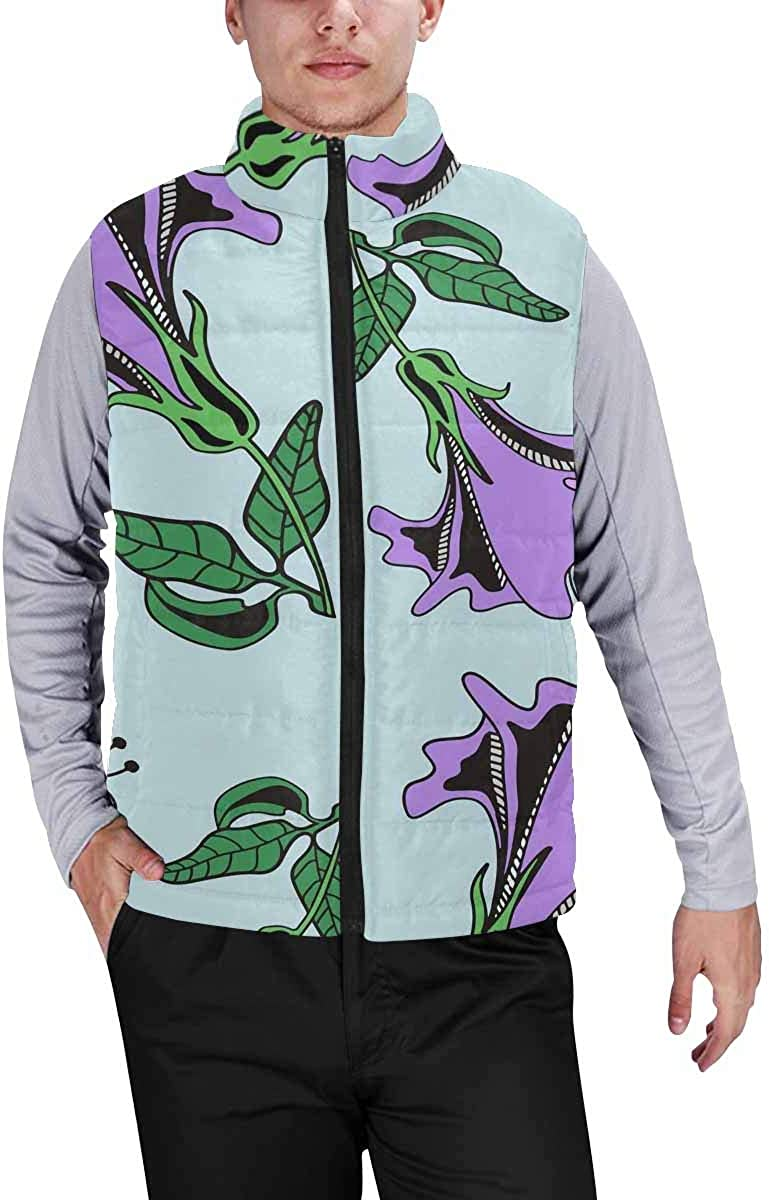 InterestPrint Men's Breathable Sleeveless Coat for Climbing Mystical Dreamcatcher with Starry Space