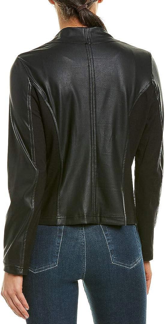 kensie Women's Stretch Faux Leather Jacket