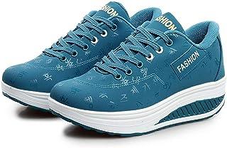 Xinantime Zapatillas De Gimnasia Mujer Casual Flock Ponerse Plataforma Gruesa Zapatillas Deportivas CuñAs para Caminar Altura Creciente Columpio Cuñas Zapato