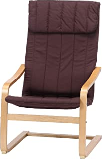 不二貿易 リラックスチェア 1人掛け ブラウン スリム 木製 84056
