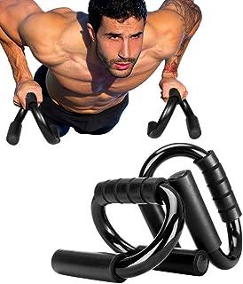 Mein HERZ 1 par push-up barstativ, push up-stänger med halkfria skumgrepphandtag, S-formade push up-stänger, push up-handt...