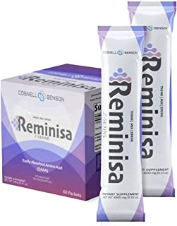Reminisa, Pure L-Serine 4,000mg, All Natural Brain Support Supplement, Promotes Cognitive Health, Memory and Focus, 60 On ...