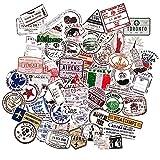 Vintage pegatinas paises sellos retro maletas viaje stickers bullet journal scrapbooking viajes pegatina tumblr vintage equpaje portatil diario de viajes cuaderno calendario
