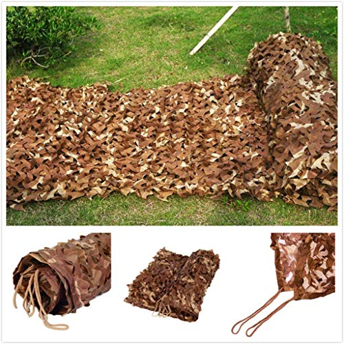 YINUO Army Camouflage Net Military Reinforced Brown Canopy for Hunting Camping Garden Gazebo Terrace Greenhouse Pergola Decoration 3x4m 6x8m 10m Shade Sails Fabrics Sun Shade for Patio ( Size : 3*4M )