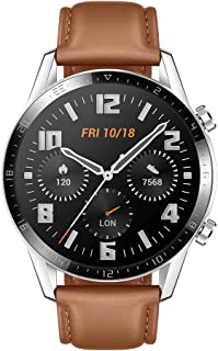 "HUAWEI Watch GT 2 Smart Watch, 1.39"" AMOLED Display with 3D Glass Screen, 2 Weeks Battery Life, GPS, 15 Sport Modes, 3D glass screen, Bluetooth Calling Smartwatch, Black (Peddle Brown)"