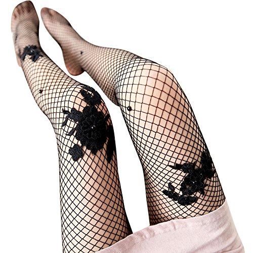 Liusdh Damen Strumpfhosen Sex transparente Strumpfhosen Netzstrümpfe Lady Mesh Strumpfhosen Socken(Black,Free Size)