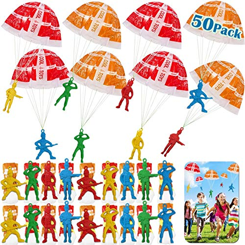 50 Pieces Parachute Toy, Tangle Free Throwing Toys for Kids Party Favor, Outdoor Children's Flying Toys, Mini Toy Holiday Birthday Toys Gifts