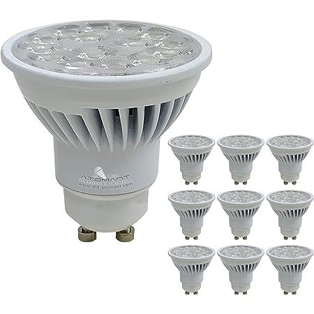 Pack 10x GU10 LED 8,5w Potentísima. Color Blanco Neutro (4500K). 900 Lumenes. Angulo 38 grados.