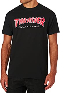 black and red thrasher shirt