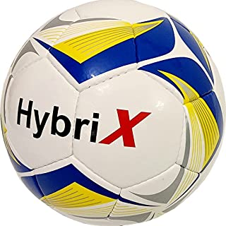 HYBRIX Youth Soccer Ball Size 5 | Durable Hand Stitched Indoor Outdoor Soccer Ball for Match, Game, practice and Training ...