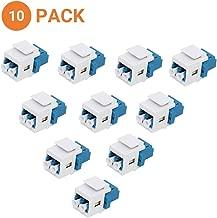 diyTech Fiber Optic Keystone Jack – LC Duplex Singlemode Fiber Jack, for Keystone Wall Plate – (10-Pack)