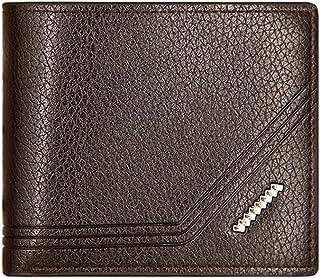 BeniNew men's short wallet multi-function massive business men's clamp-668-6 brown color